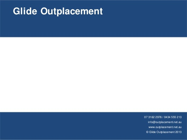 career coaching with glide outplacement