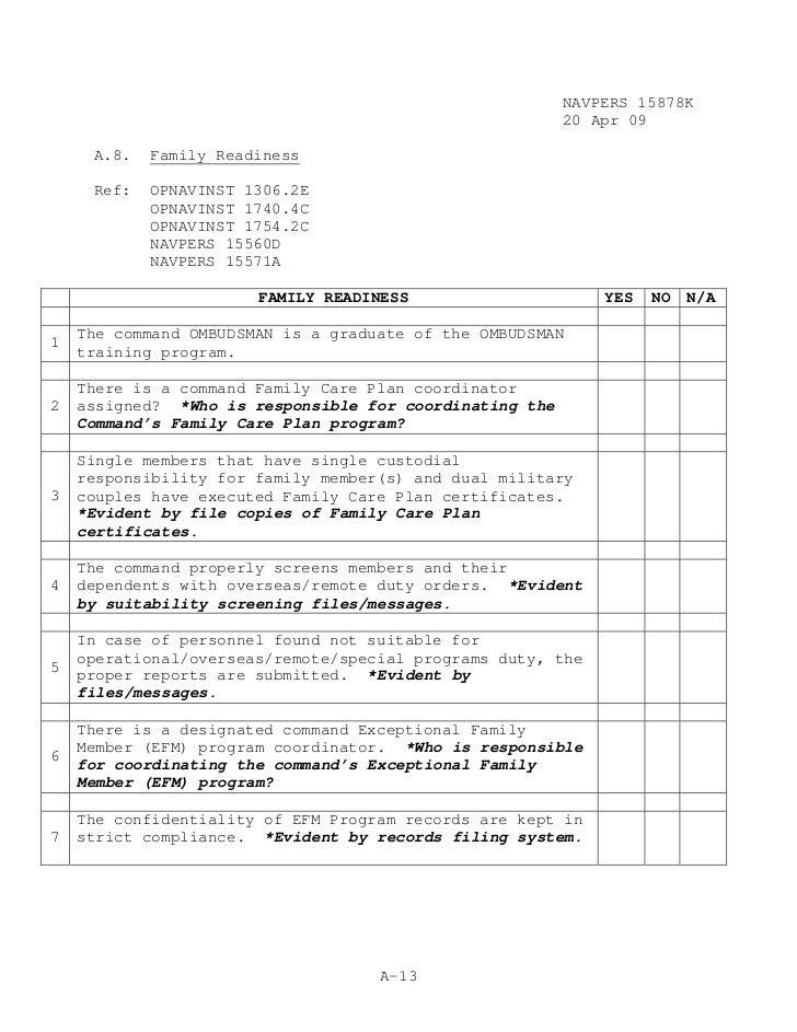 Navy Family Care Plan Form Nurufunicaasl