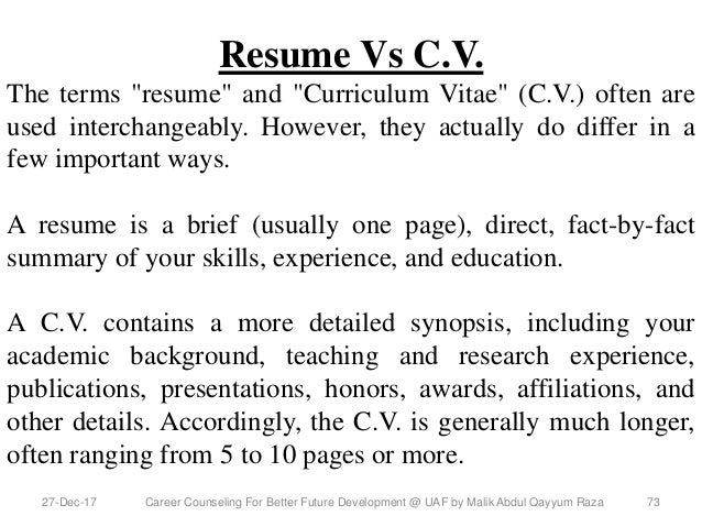 Career counseling for better future development uaf 0n 15 dec 2017 resume yelopaper Choice Image