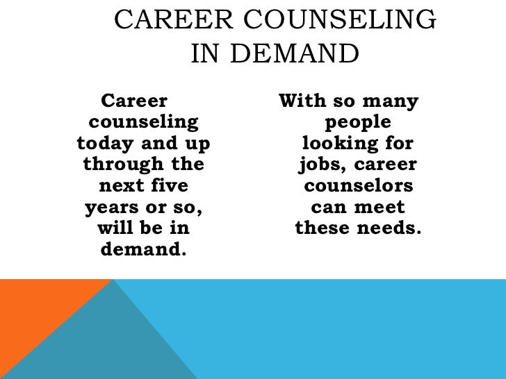 career counselling 1 Important changes in career guidance practices that occurred during the 20th  century can be partly explained by evolution of the contexts.