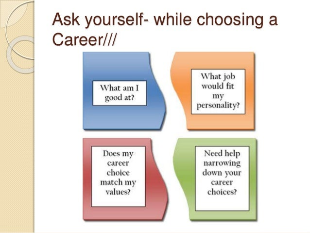 the importance of career personality tests and choosing the right career Career clarity - know yourself career exploration is a lifelong process for most people personality & preferences putting it all together and/or california career zone, an interactive career planning system designed for studentsincludes four self-assessment tools.