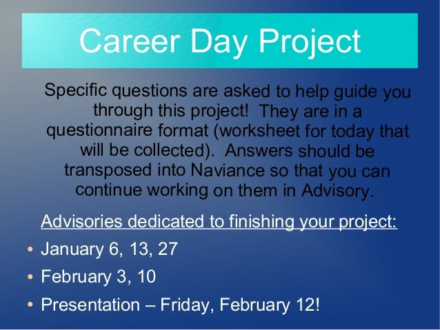 Career day project