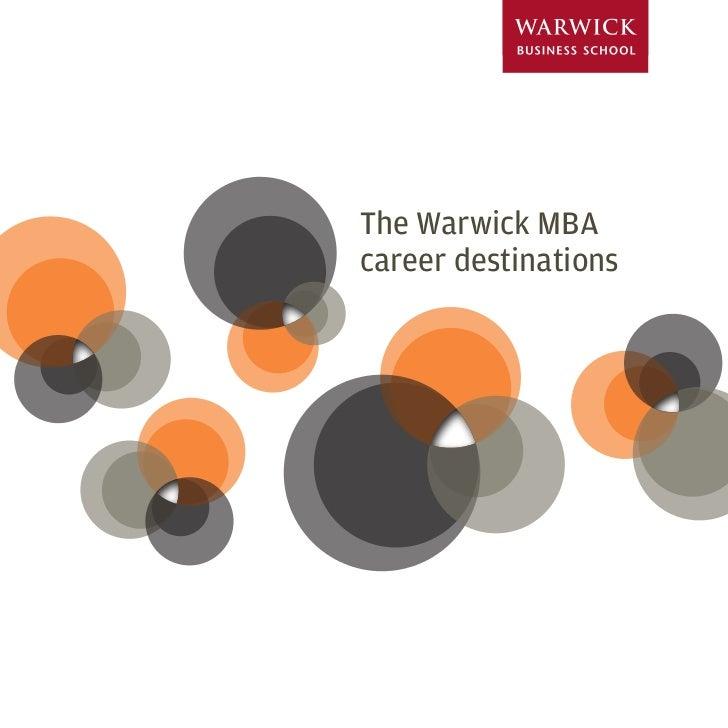 The Warwick MBA career destinations                           1