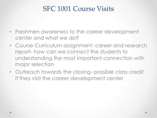 career development center freshman initiatives
