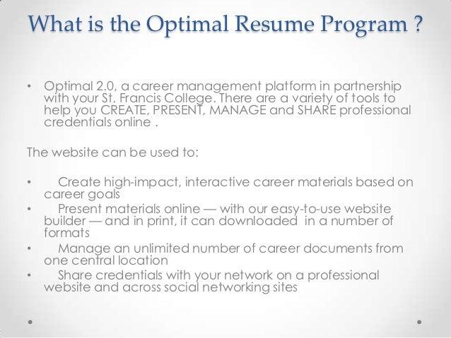 optimal resume american career college