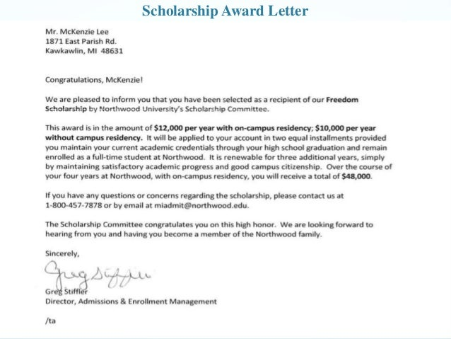 Career development portfolio 8 scholarship award letter altavistaventures Choice Image