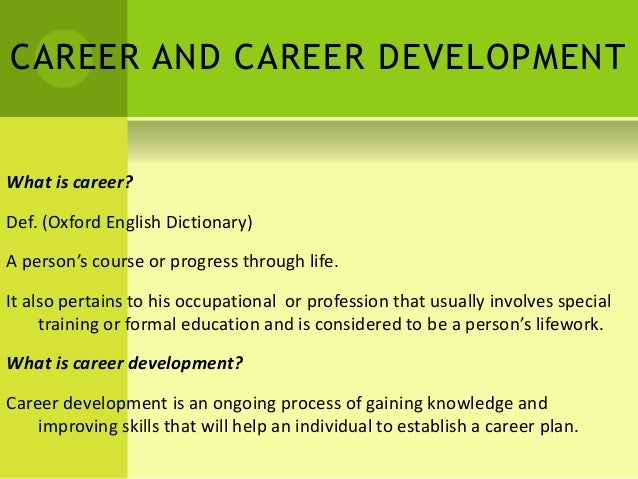 career development ppt