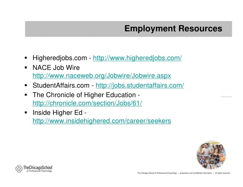 Resume and Cover Letter Resources  HigherEdJobs
