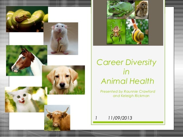 Career Diversity in Animal Health Presented by Raunnie Crawford and Keleigh Rickman  1  11/09/2013