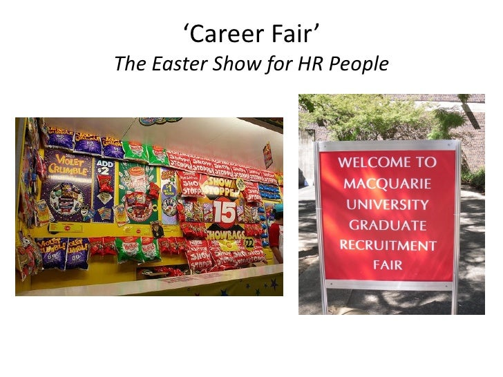 'Career Fair' The Easter Show for HR People