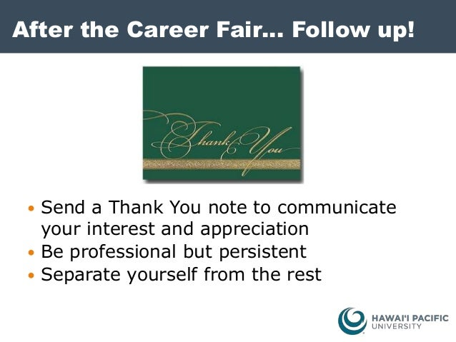 thank you after career fair