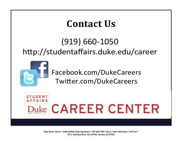 duke career center career fair preparation collection