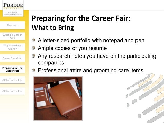 what to bring to job fair