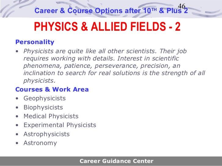 Career Guidance Center; 46.