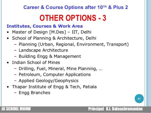 Career Guidance Jg School Mhow