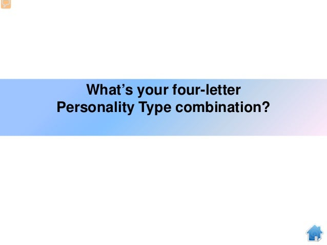 What's your four-letter Personality Type combination?