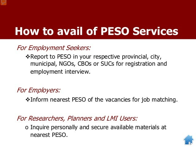 Open Search Feature: Anyone who visits the Phil-Jobnet website http://phil-jobnet.dole.gov.ph may view or search for the r...