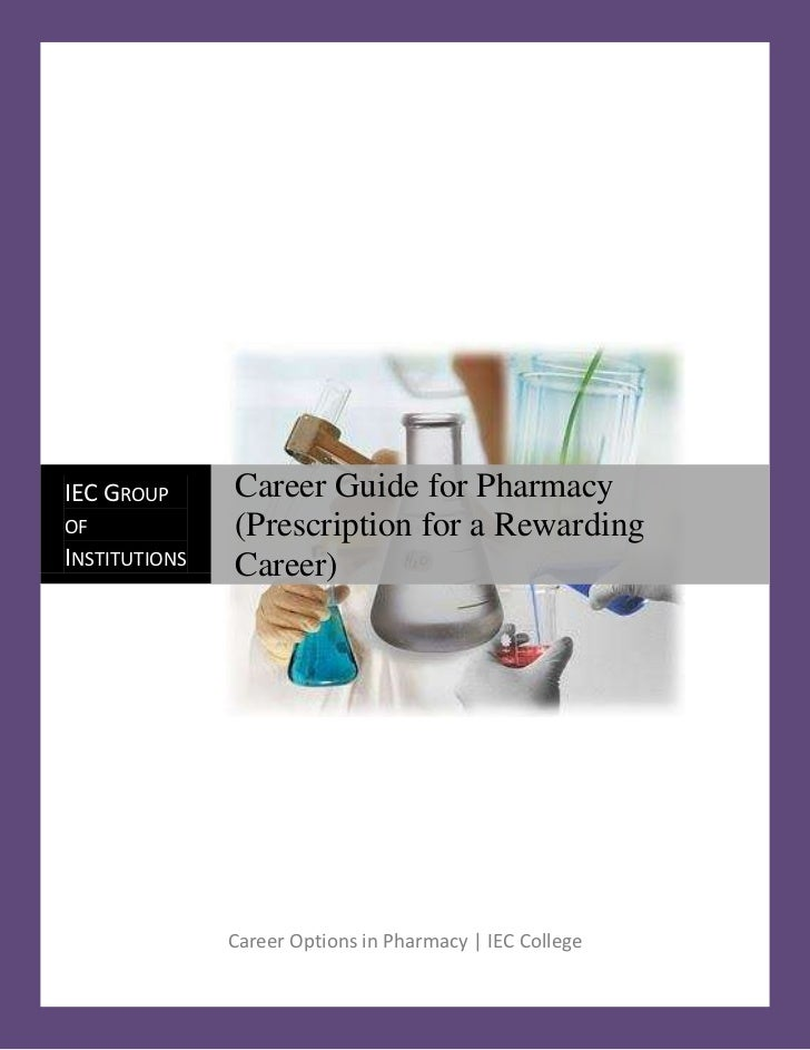 Career Options in Pharmacy | IEC College21621753276600IEC Group of InstitutionsCareer Guide for Pharmacy    (Prescription ...