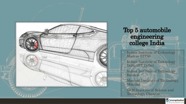 Career In Automobile Engineering In India