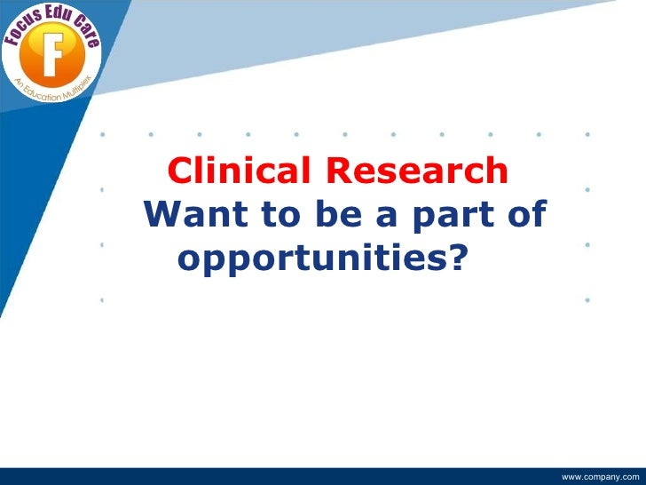 career in clinical research With how to start a career in clinical research