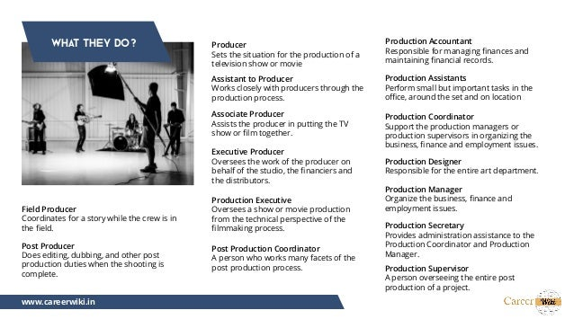 producer movie executive producer job description
