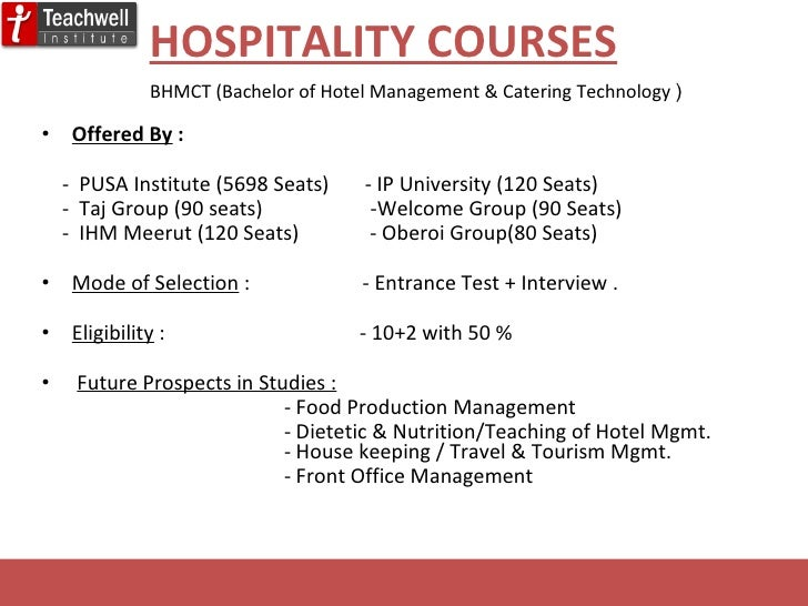 Career In Hotel Management