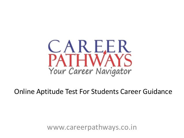 Www.careerpathways.co.in Online Aptitude Test For Students Career Guidance  ...  Free Career Test