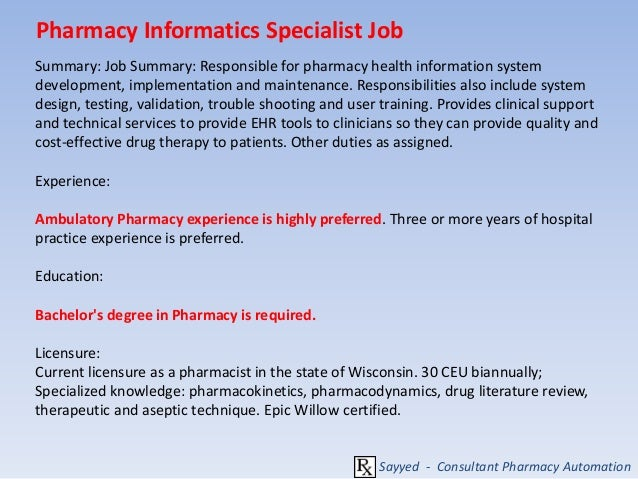 Career In Pharmacy Information Roles And Responsibilities