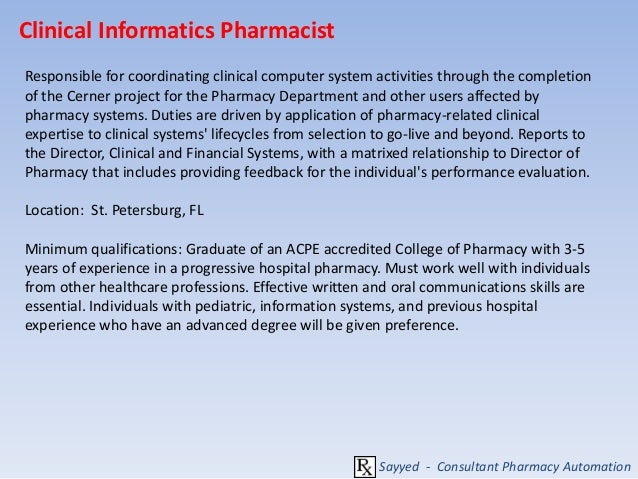 Career in Pharmacy Information Roles and Responsibilities – Pharmacist Duties