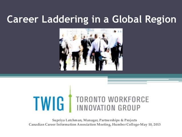 Career Laddering in a Global RegionSupriya Latchman, Manager, Partnerships & ProjectsCanadian Career Information Associati...