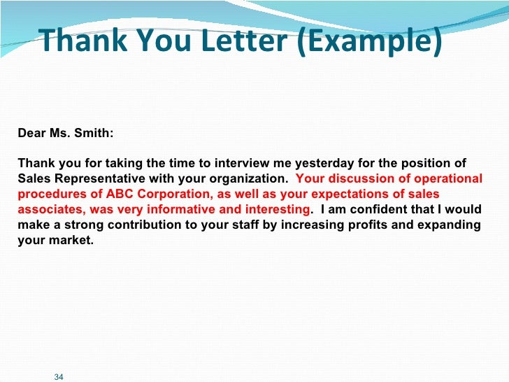 thank you letter to customer after business meeting