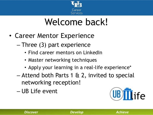 2 welcome back career mentor