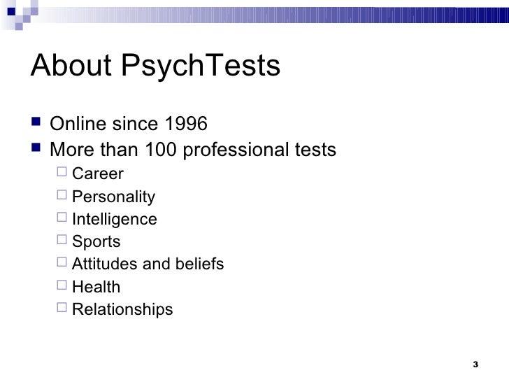 Career Motivation Test Slide 3