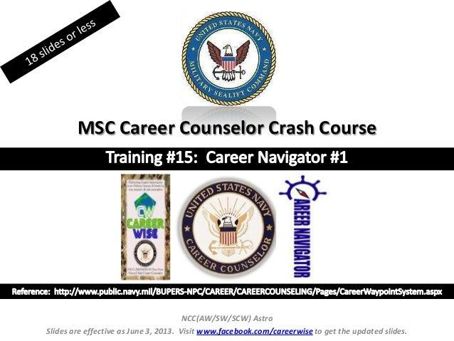 MSC Career Counselor Crash CourseNCC(AW/SW/SCW) AstroSlides are effective as June 3, 2013. Visit www.facebook.com/careerwi...