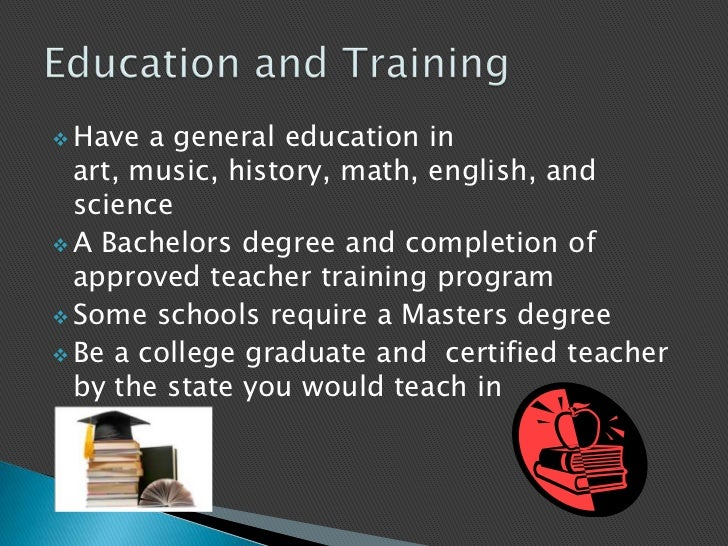 teacher career presentation Employment of education, training, and library occupations is projected to grow 9 percent from 2016 to 2026 career and technical education teachers: career and technical education teachers instruct students in various technical and vocational subjects.