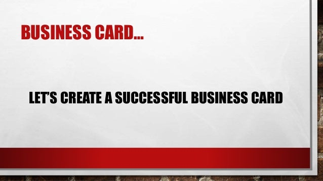 Career on business card design lets create a successful business card 4 colourmoves