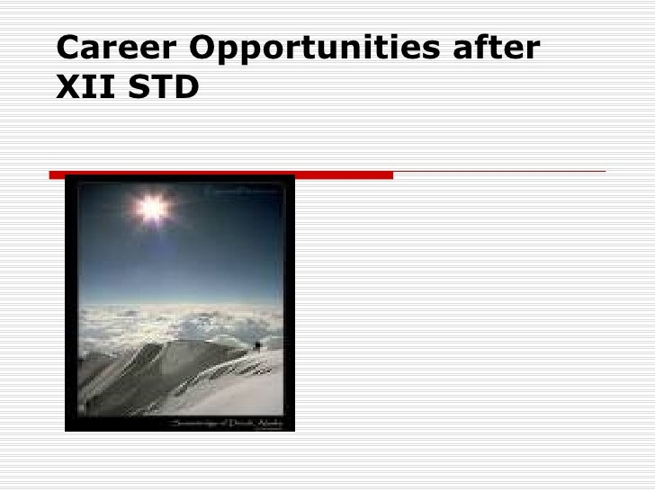 Career Opportunities afterXII STD
