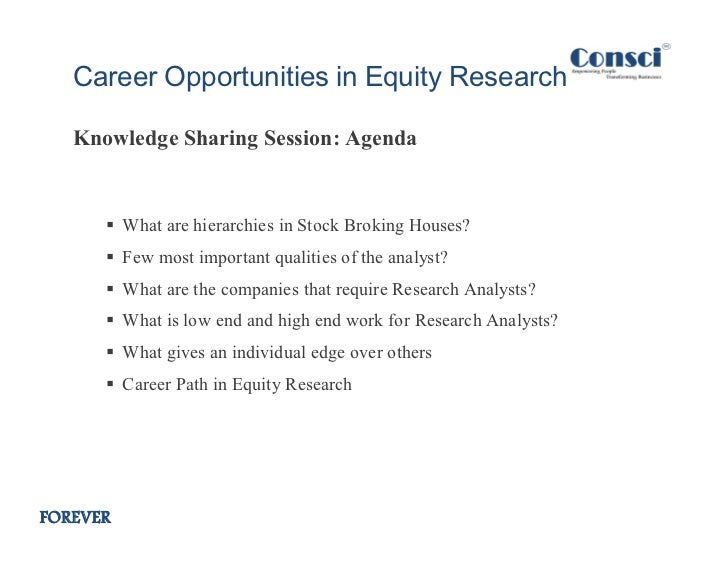 career opportunities in equity research