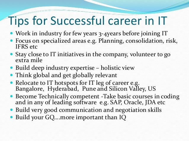 Career path for chartered accountant
