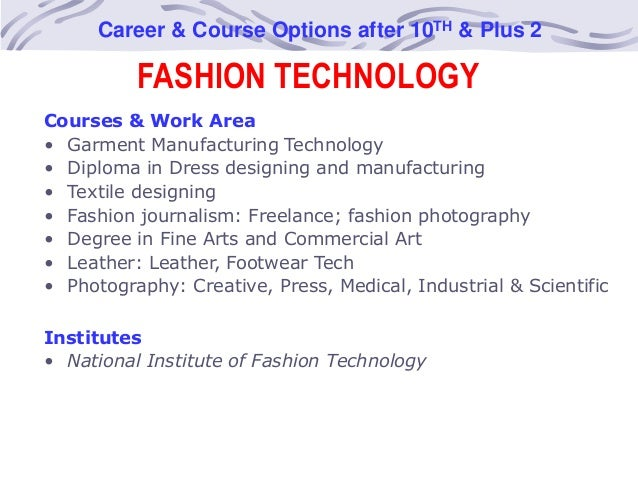 Mohali Career Guidance Center 12 FASHION TECHNOLOGY Course Options After
