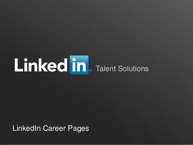 Talent Solutions  LinkedIn Career Pages