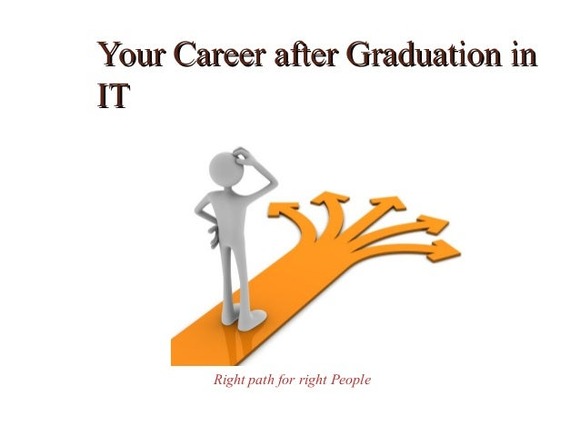 Your Career after Graduation inIT        Right path for right People