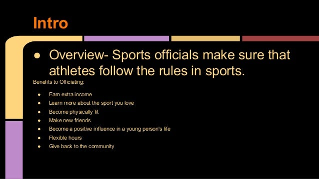 Sports Official By: Shayne Kropf; 2.