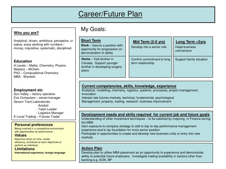 how to write a career plan template - career plan example