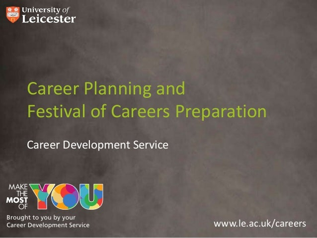 www.le.ac.uk/careers Career Planning and Festival of Careers Preparation Career Development Service