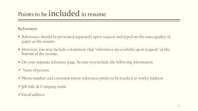 should references be on a resumes