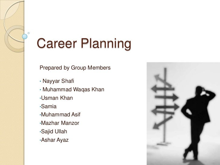 Career PlanningPrepared by Group Members•   Nayyar Shafi•   Muhammad Waqas Khan•Usman     Khan•Samia•Muhammad Asif•Mazhar ...