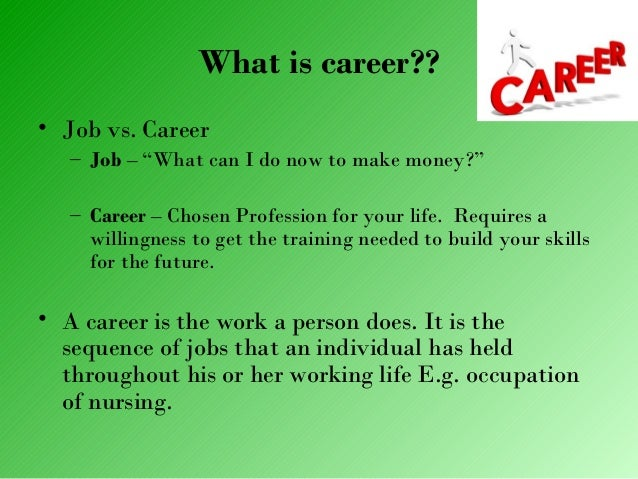 job vs career Whether you're looking to change careers or simply want to know what interview questions to prepare for, this is the place for career advice and tips.