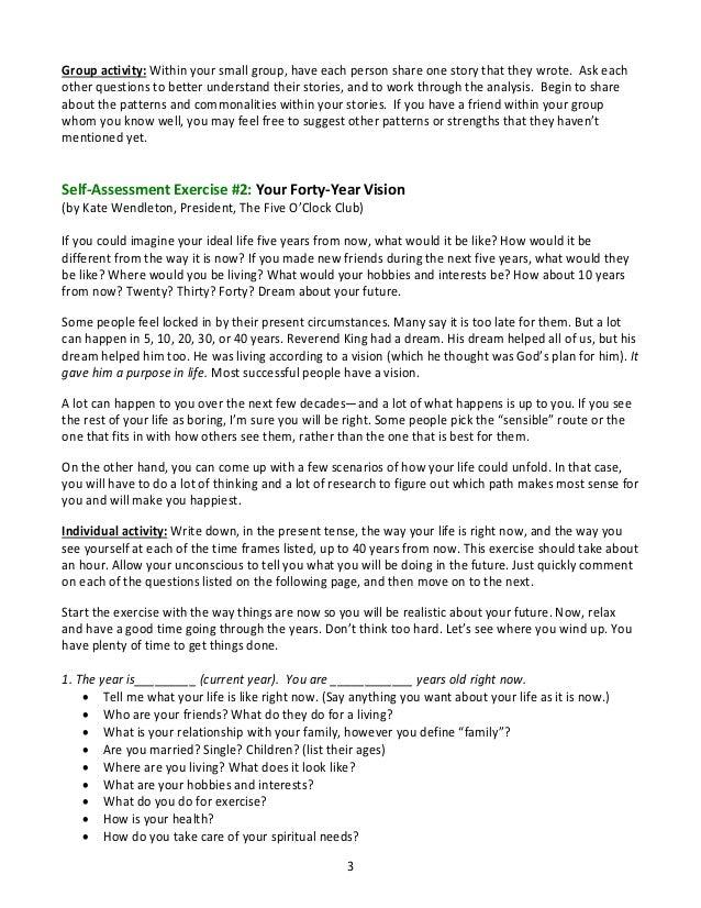 Career Planning 1 Self Assessments 2013