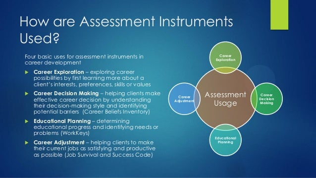 Career planning and assessment